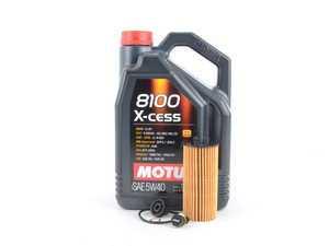 ES#3200149 - 11428570590KT15 - MINI Motul 8100 X-Cess 5w-40 Oil Service Kit Gen 3 1.5L - With ECS Magnetic Drain Plug - All in one service for your MINI - Assembled By ECS - MINI