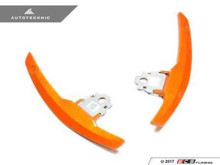 ES#3420975 - BM-0164-SO - Competition Shift Paddles - Sakhir Orange - Racing paddles for M-DCT transmission - AUTOTECKNIC - BMW
