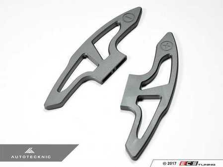 ES#3420978 - BM-0165-GM-S - Extended Competition Shift Paddles - Gun Metal - Longer racing paddles for M-DCT transmission - AUTOTECKNIC - BMW