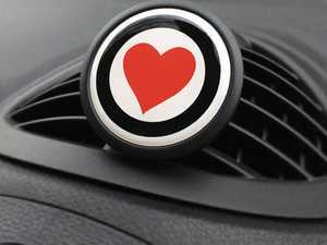ES#3246847 - A008 - Automotive Air Freshener Interior Badge Vent Clip - HEART with Clean Cotton and Ocean Breeze Scent Packets - Add the Go Badges Style Scented to any vent or area in the car - Go Badges - MINI