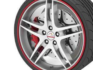 """ES#3247265 - RB01 - GoBadges Rimblades Red - Set of 4 - Protection and style add on """"redline style"""" to the edge of your wheels - Go Badges - MINI"""