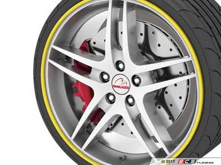 "ES#3419124 - RB03Y - GoBadges Rimblades Yellow - Set Of 4 - Protection and style add on ""redline style"" to the edge of your wheels - Go Badges - MINI"