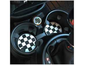 ES#3419225 - CG03 - Cup Holder Badge Checker (73mm) - Priced Each - Adds a little design to the bottom of the cup holder - Go Badges - MINI