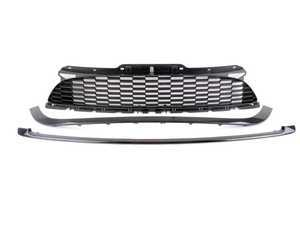 ES#3246096 - 51130442011KT1 - JCW Grille Set - Gloss Black - Gloss finish upper and lower trim with matte finish center grille - Genuine MINI - MINI