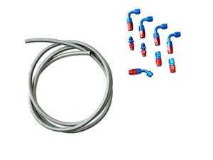 ES#3432272 - 034-106-4001 - Fuel Line Kit - All fittings and hose neeed to assemble your own lines using an external fuel pressure regulator - 034Motorsport -