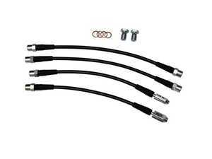 ES#3432300 - 034-303-0008 - Stainless Braided Brake Line Kit - Replace your stock rubber brake hoses with these performance-minded stainless steel braided lines - 034Motorsport - Audi