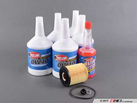 ES#3432302 - 114275124467KT - Redline Oil Service Kit - Everything you need for a comprehensive oil service, including Redline oil, Mann filter with new magnetic drain plug - Assembled By ECS - MINI