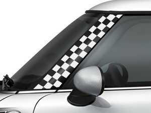 ES#3247080 - GG0002 - MINI COOPER A-Pillar Decal - Checker White Set - Add a splash of design to the front trim near the windshield - Go Badges - MINI