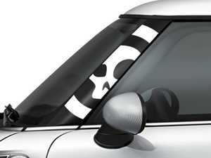 ES#3247079 - GG0001 - MINI COOPER A-Pillar Decal - Skull White Set - Add a splash of design to the front trim near the windshield - Go Badges - MINI