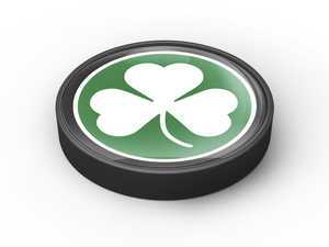 ES#3247176 - IP86 - MINI Cooper Engine Starter Button - Shamrock - Add some fun and style to the start/stop button on the dash - Go Badges - MINI