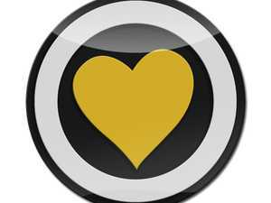 ES#3247222 - LC0023 - GoBadges 3D Heart Premium 05 Yellow - Add a stylish design to your Go Badges holder or plate frame - Go Badges - MINI