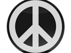 ES#3247234 - LC0047 - GoBadges 3D Peace Sign White - Add a stylish design to your Go Badges holder or plate frame - Go Badges - MINI