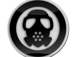 ES#3247248 - LC0092 - GoBadges 3D Gas Mask Black - Add a stylish design to your Go Badges holder or plate frame - Go Badges - MINI