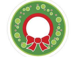 ES#3246992 - CD0770 - GoBadges Car Grill Badge SEASONAL Wreath - Add a stylish design to your Go Badges holder or plate frame - Go Badges - MINI