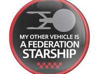 ES#3246882 - CD0040 - GoBadges Car Grill Badge A STARSHIP - Add a stylish design to your Go Badges holder or plate frame - Go Badges - MINI