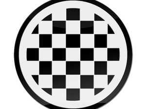 ES#3246933 - CD0330 - GoBadges Car Grill Badge Checker Flag - Black - Add a stylish design to your Go Badges holder or plate frame - Go Badges - MINI