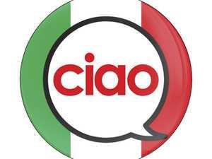 ES#3246952 - CD0467 - GoBadges Car Grill Badge Ciao Sign - Add a stylish design to your Go Badges holder or plate frame - Go Badges - MINI
