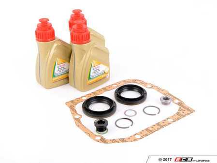 ES#3194486 - 83222282583M5KT2 - Differential Service & Reseal Kit - Everything needed to service your M5 differential using Castrol SAF-XJ 75w140 including a gasket set - With ECS magnetic drain plug! - Assembled By ECS - BMW