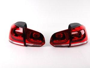ES#1910148 - 5K0998003 -  European LED Tail Light Set - Cherry Red - Complete set of LED tail lights from the European market GTI - Genuine European Volkswagen Audi - Volkswagen