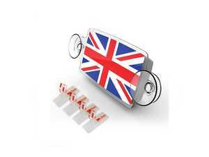 ES#3419246 - IP173 - Small Toll Pass / EZ Pass / Transponder Holder - Union Jack - Holds your toll pass transponder making it easy to move or remove - Go Badges - MINI
