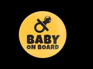 ES#3435207 - CD1073 - GoBadges Car Grill Badge Baby On Board - Add a stylish design to your Go Badges holder or plate frame - Go Badges - MINI