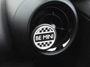ES#3246850 - A020 - Automotive Air Freshener Interior Badge Vent Clip - BE MINI with Clean Cotton and Ocean Breeze Scent Packets - Add the Go Badges Style Scented to any vent or area in the car - Go Badges - MINI