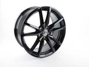 "ES#3196239 - 5G0071498AAX1 - 18"" Pretoria Wheel - Priced Each - 18""x7.5"", ET51, 5x112 - Gloss Black - Genuine Volkswagen Audi - Volkswagen"