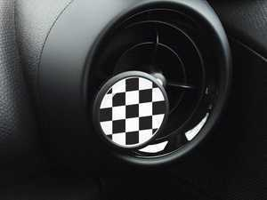 ES#3246845 - A004 - Automotive Air Freshener Interior Badge Vent Clip - CHECKER with Clean Cotton and Ocean Breeze Scent Packets - Add the Go Badges Style Scented to any vent or area in the car - Go Badges - MINI