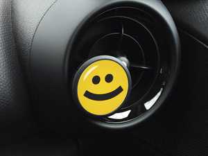 ES#3246849 - A012 - Automotive Air Freshener Interior Badge Vent Clip - SMILE with Clean Cotton and Ocean Breeze Scent Packets - Add the Go Badges Style Scented to any vent or area in the car - Go Badges - MINI