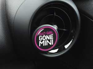 ES#3246854 - A037 - Automotive Air Freshener Interior Badge Vent Clip - BAD GIRL GONE with Clean Cotton and Ocean Breeze Scent Packets - Add the Go Badges Style Scented to any vent or area in the car - Go Badges - MINI