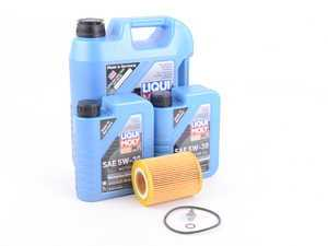 ES#3424123 - m50OCIlm - Liqui Moly Longtime High Tech Oil Change Kit / Inspection I - Everything you need for a comprehensive oil service, including Liqui Moly oil and Hengst filter - Assembled By ECS - BMW