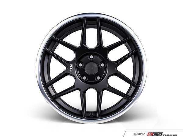 "ES#3435188 - 3s91895sbm35KT - 18"" Style 0.09 - Square Set Of Four  - 18x8.5"" ET35 5x120. Satin black with a machine polished lip. - 3SDM - BMW"