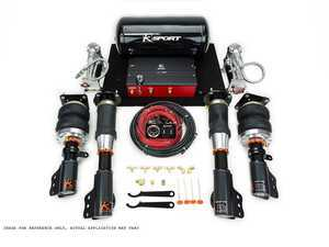 ES#3430461 - CAU340-ADX - Airtech Deluxe Air Suspension System - Offering all features of the basic kit, with the addition of analog electronic switches, providing more precise control over manual 'paddle' valves - Ksport - Audi