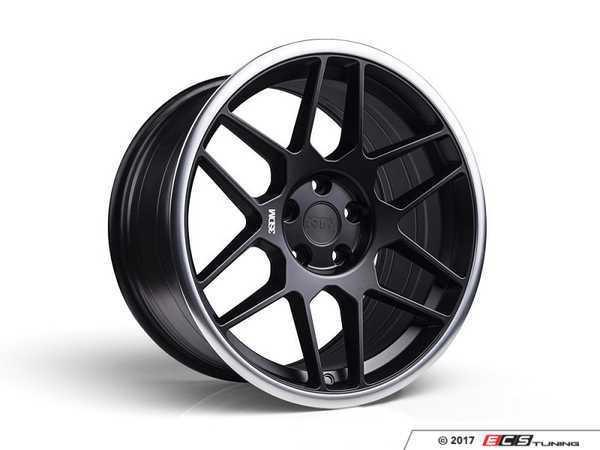 "ES#3437397 - 5060530680412KT1 - 18"" 0.09 - Set Of Four - 18x8.5 ET42 5x112 - Satin Black / Polished Lip - 3SDM - Audi MINI"