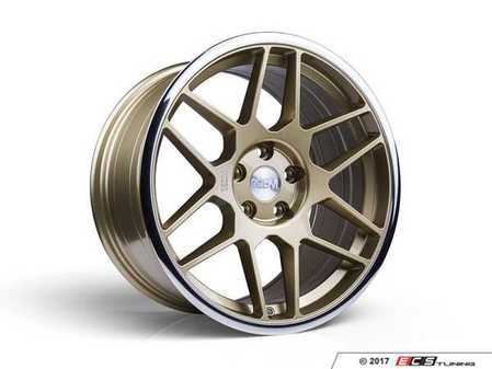 "ES#3437398 - 5060530680405KT1 - 18"" 0.09 - Set Of Four - 18x8.5 ET42 5x112 - Gold / Polished Lip - 3SDM - Audi MINI"