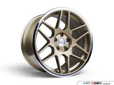 """ES#3437331 - 5060530680535KT - 18"""" 0.09 - Set Of Four - 18x9.5 ET40 5x112 - Gold / Polished Lip - 3SDM - Audi Volkswagen"""