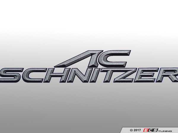 ES#3034481 - 51141010 - AC Schnitzer Type Designation Emblem (100x19mm) - A touch of AC Shcnitzer to show your pride - AC Schnitzer - BMW