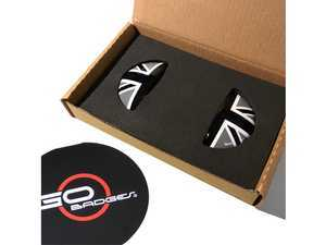 ES#3437789 - IP14 - MINI Cooper R61 Door Pull Covers Black Jack - Set Of 2 - Add some design to the door pull handle - Go Badges - MINI