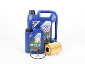 ES#2960049 - 11427833769LMKT - Liqui Moly Synthoil Race Tech GT1 Oil Change Kit / Inspection I - Everything needed for a complete oil service including Liqui Moly Race Tech GT1 oil and a MANN filter - Assembled By ECS - BMW