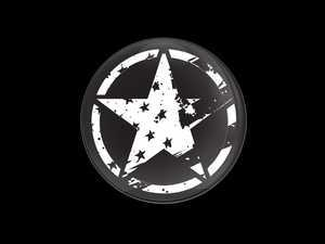 ES#3437877 - CD1062 - GoBadges Car Grill Badge Black Distressed Star US Flag - Add a stylish design to your Go Badges holder or plate frame - Go Badges - MINI