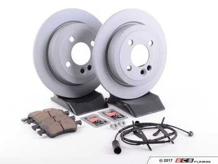ES#2598218 - 34216774987KT12 - Rear Brake Service Kit - Featuring Zimmerman rotors and Akebono pads - Assembled By ECS - MINI