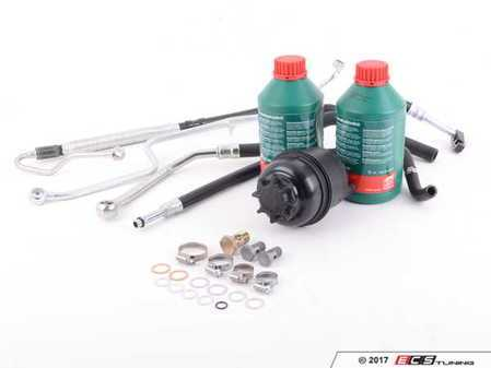 ES#3236247 - 32411093926KT - Power Steering Service Kit - Includes reservoir with cap, lines, bolts & crush washers, and fluid - Assembled By ECS - BMW