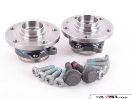 ES#2588450 - 5K0498621KT1 - Wheel Bearing & Hub Assembly Kit - Includes both wheel bearing/hub assemblies with hardware - FAG - Audi Volkswagen
