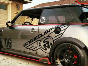 ES#3438686 - 1439010 - SNEED4SPEED Wing Decal Set - Matte Black - Full side decal set to match the Sneed4Speed race car - Sneed4Speed - MINI