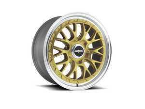 "ES#3442771 - r15619004325KT1 - 19"" LSR - Set Of Four - 19""x10"", ET25, 5x112 - Gold With Machined Lip - Rotiform - Audi Volkswagen"