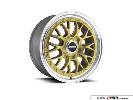"ES#3441737 - r15618854335KT1 - 18"" LSR - Set Of Four - 18""x8.5"", ET35, 5x112 - Gold With Machined Lip - Rotiform - Audi Volkswagen"