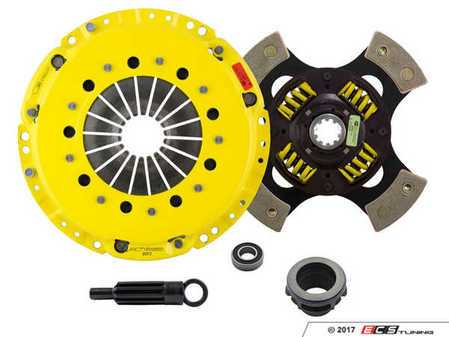 ES#3438716 - bm3-hdg4KT1 - Heavy Duty Sprung 4-Pad Racing Clutch Kit With XACT Prolite Flywheel - Perfect for high performance street and road racing demands. Conservatively rated up to 500 ft/lbs torque capacity. - ACT - BMW