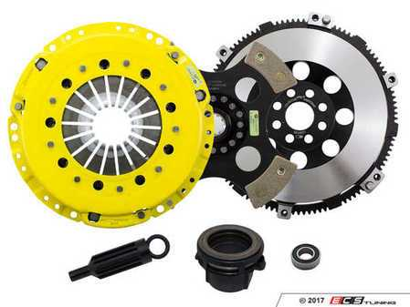 ES#3438010 - BM5-HDR4 - Heavy Duty 4-Pad Rigid Racing Clutch Kit With XACT Prolite Flywheel - Perfect for aggressive racing demands. Conservatively rated up to 505 ft/lbs torque capacity. - ACT - BMW