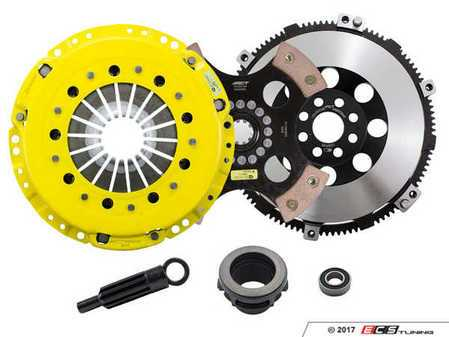 ES#3438016 - BM6-HDR4 - Heavy Duty 4-Pad Rigid Racing Clutch Kit With XACT Streetlite Flywheel - Perfect for aggressive racing demands. Conservatively rated up to 505 ft/lbs torque capacity. - ACT - BMW
