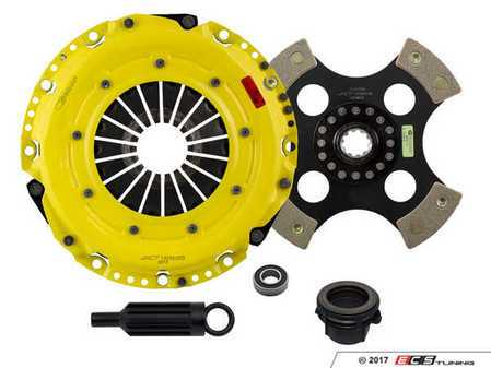 ES#3438034 - BM9-HDR4 - Heavy Duty 4-Pad Rigid Racing Clutch Kit - Perfect for aggressive racing demands. Conservatively rated up to 505 ft/lbs torque capacity. - ACT - BMW
